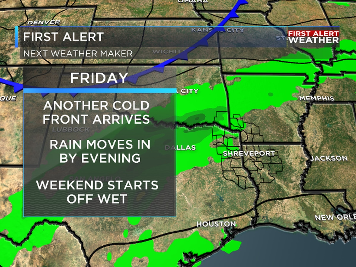 FIRST ALERT: Rain could impact your Friday evening and Saturday morning