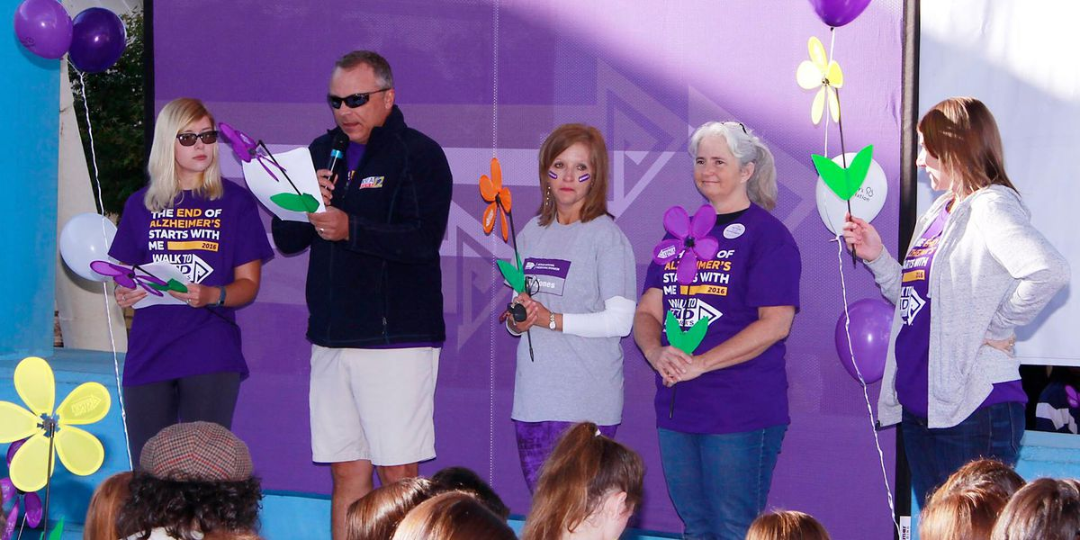 The fight against Alzheimer's begins with the 'Walk'