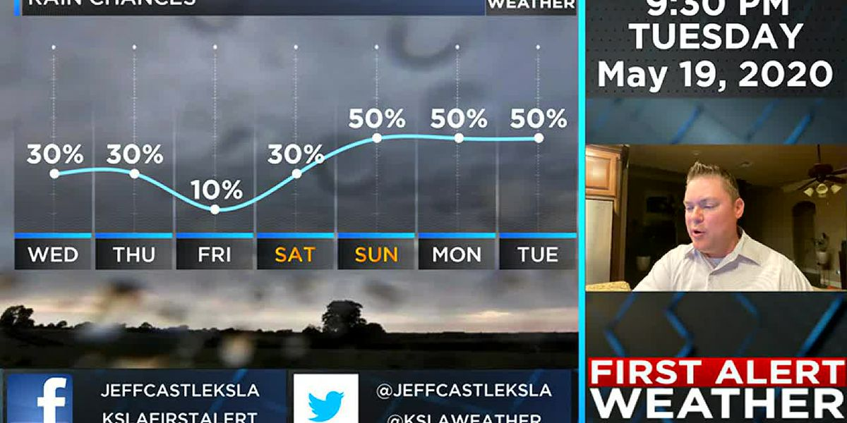Rain chances increasing through the weekend