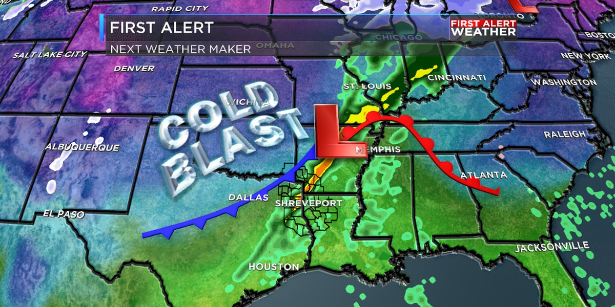 FIRST ALERT: Next round of rain and cold blast quickly approaching