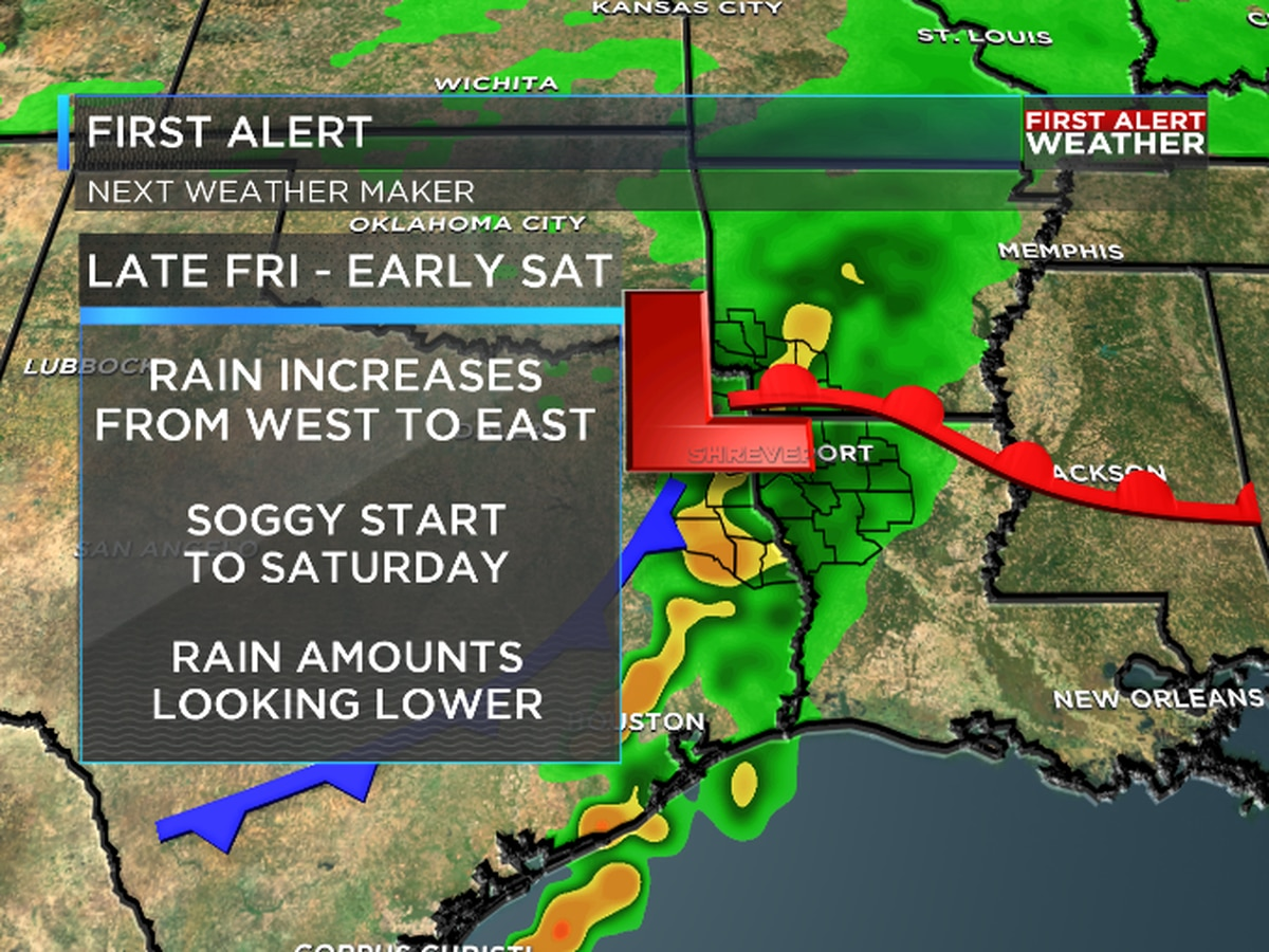FIRST ALERT: Expect a soggy start to Saturday