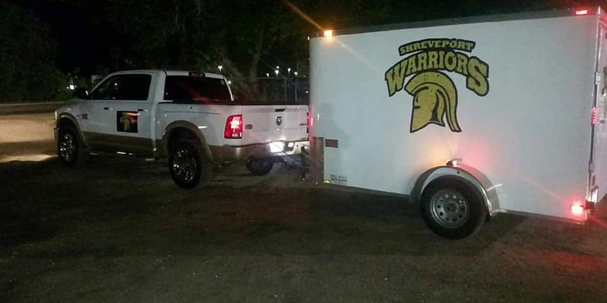 Shreveport Warriors equipment trailer recovered; suspect in custody