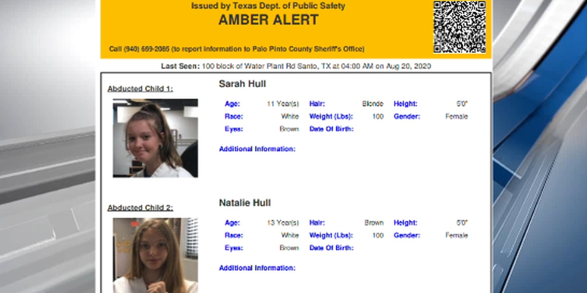 Amber Alert discontinued for two girls missing from North Texas