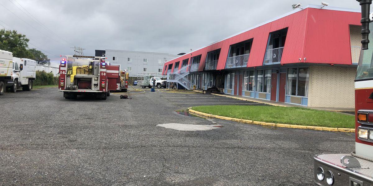 SFD battles hotel fire on Monkhouse Drive