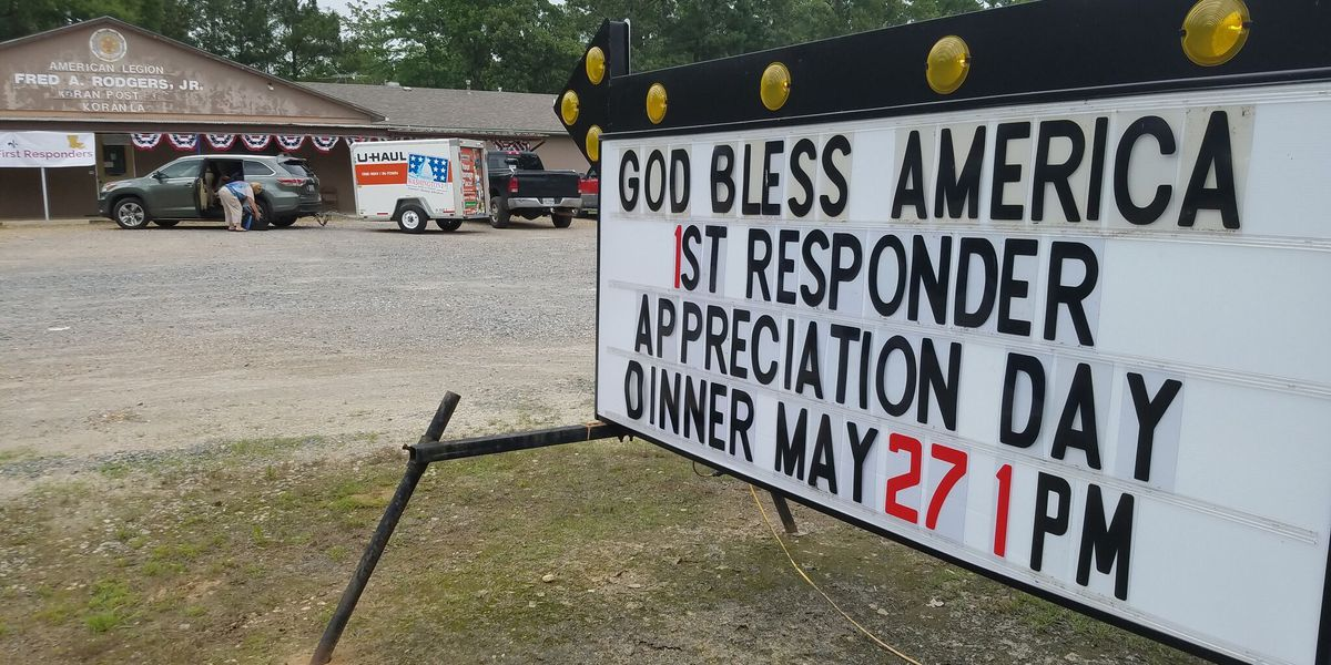 American Legion post honors first responders with fish fry