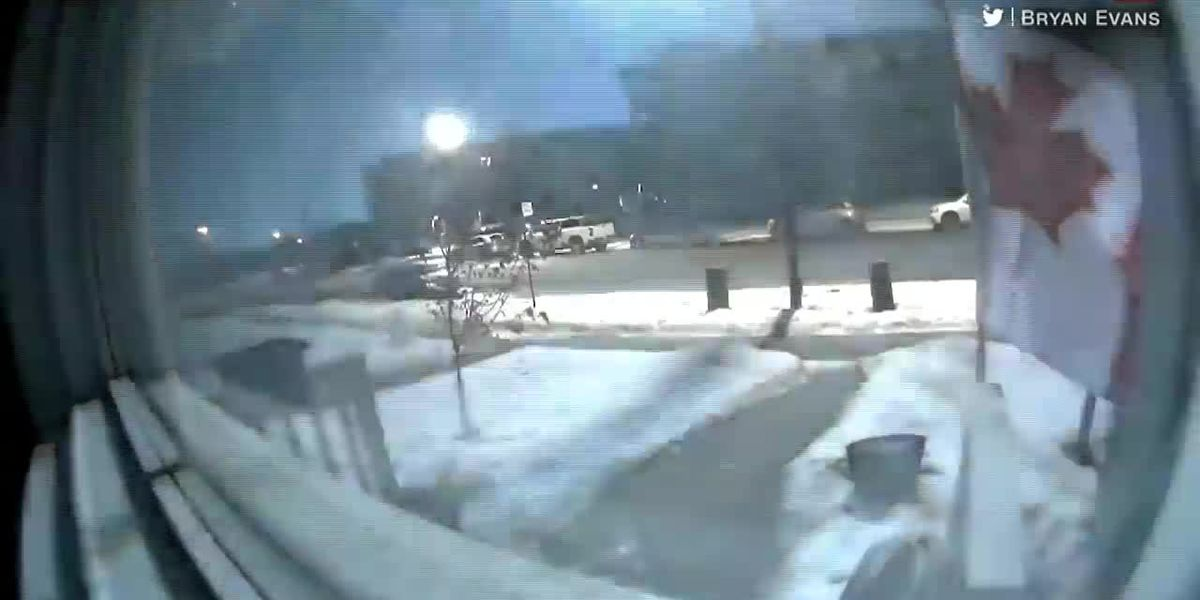 Huge fireball lights up night sky