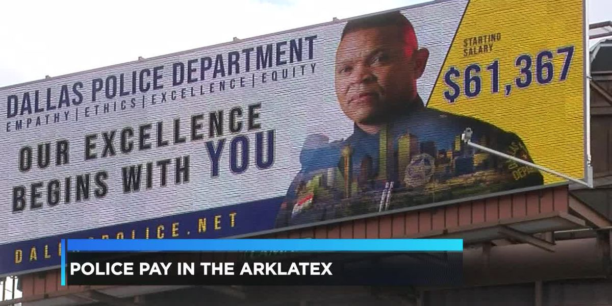 Dallas police offering nearly double the salary of ArkLaTex police departments