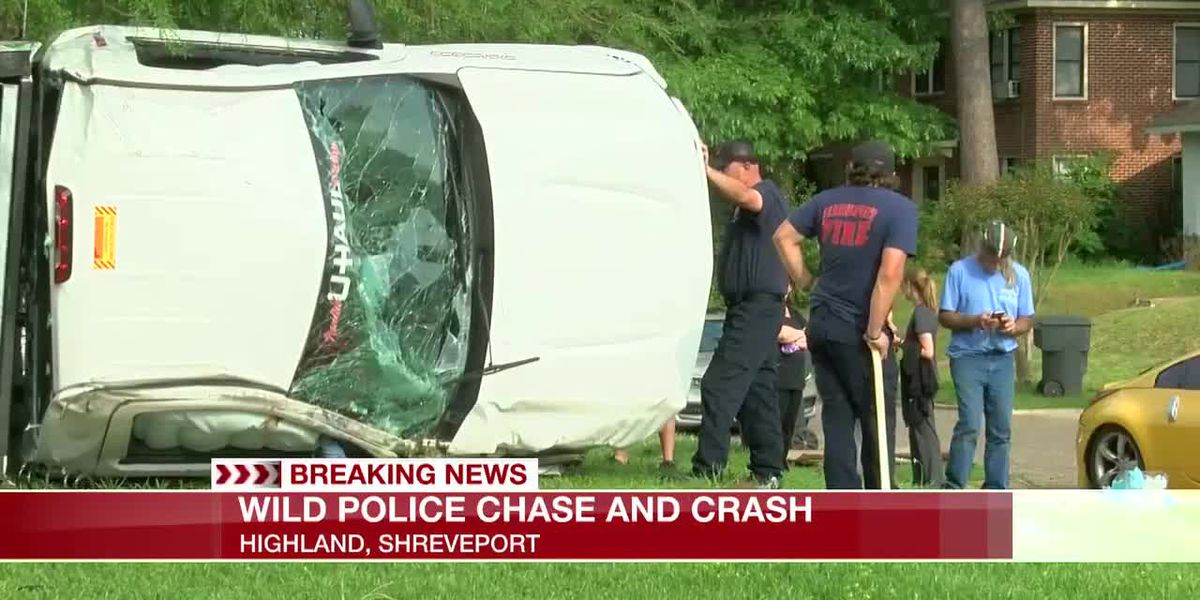 Wild police chase ends in crash; one vehicle almost hits a house