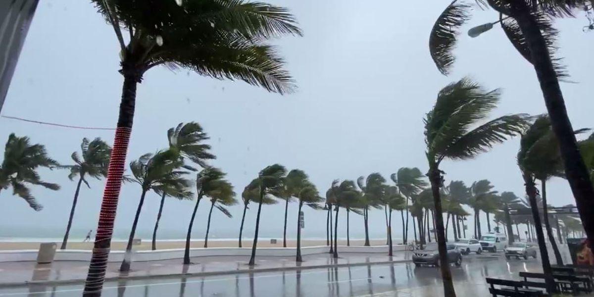 Isaias slightly strengthens as it crawls up Florida coast