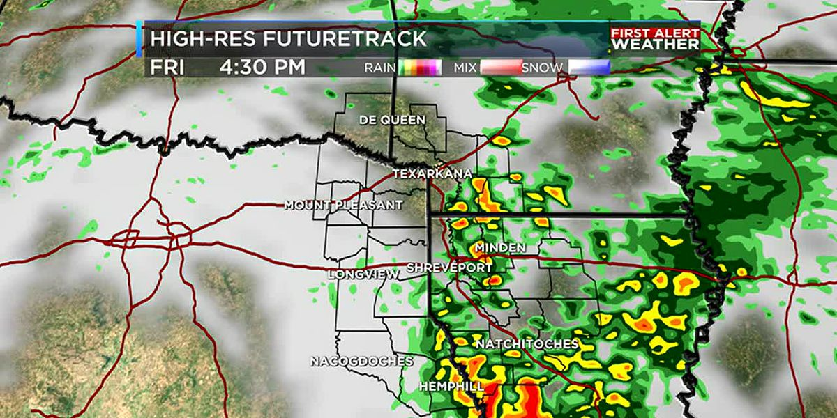 Rain moves in today; drying out just in time for the weekend