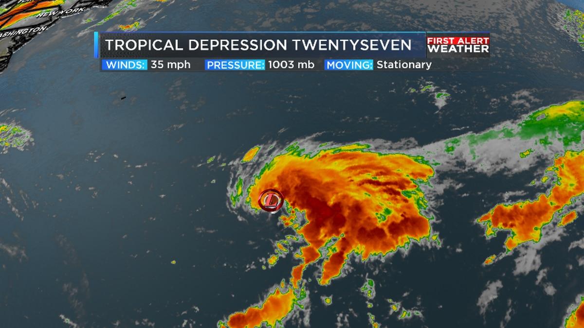 Tropical Depression 27 forms, continuing record Hurricane Season