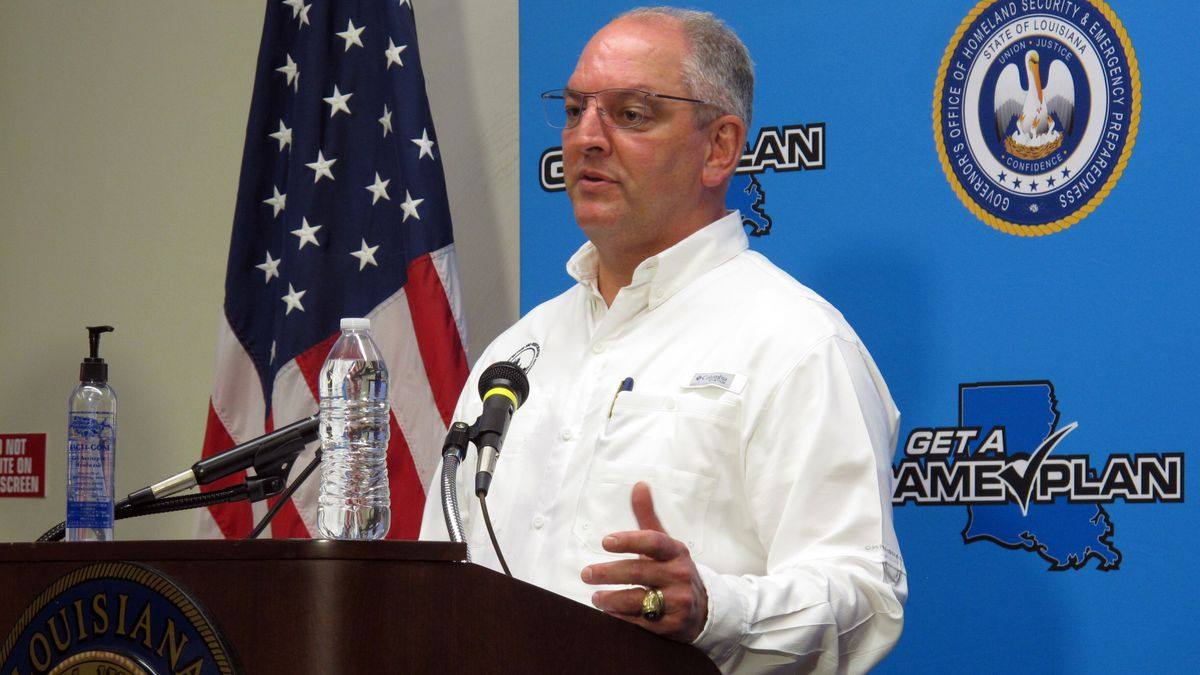 Gov. John Bel Edwards to give update on state's response to hurricanes and COVID-19