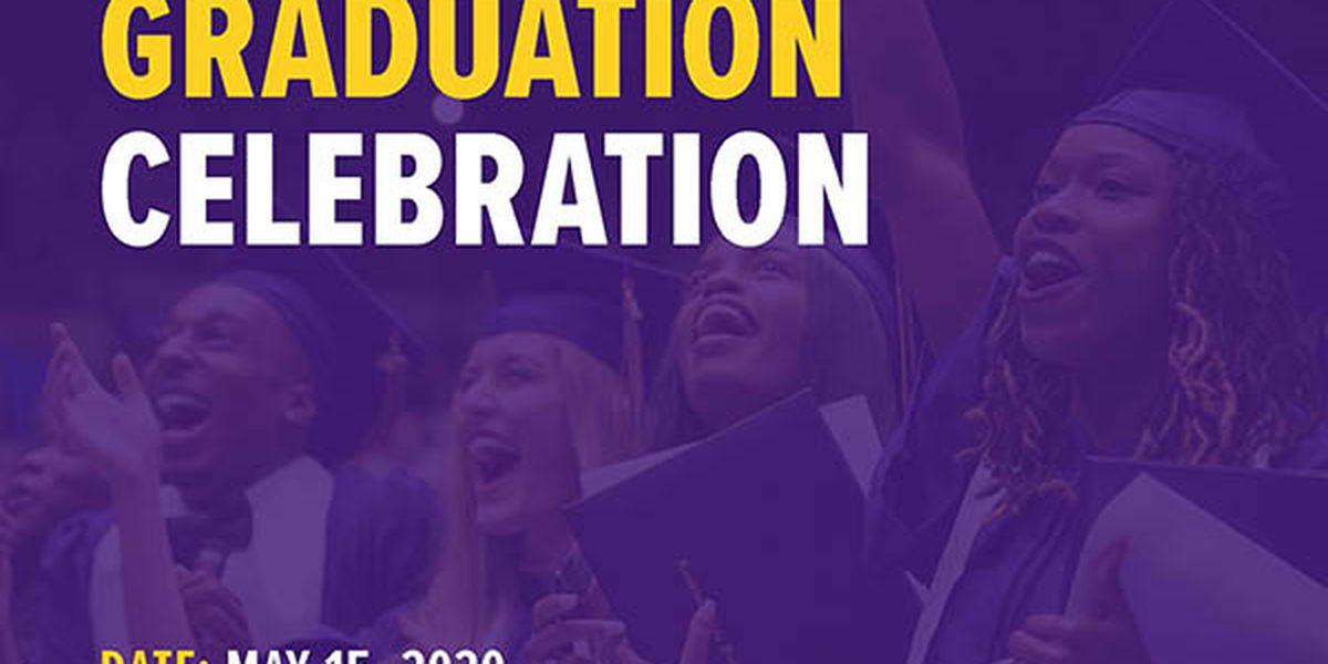 LSU celebrating Spring graduates Friday, May 15