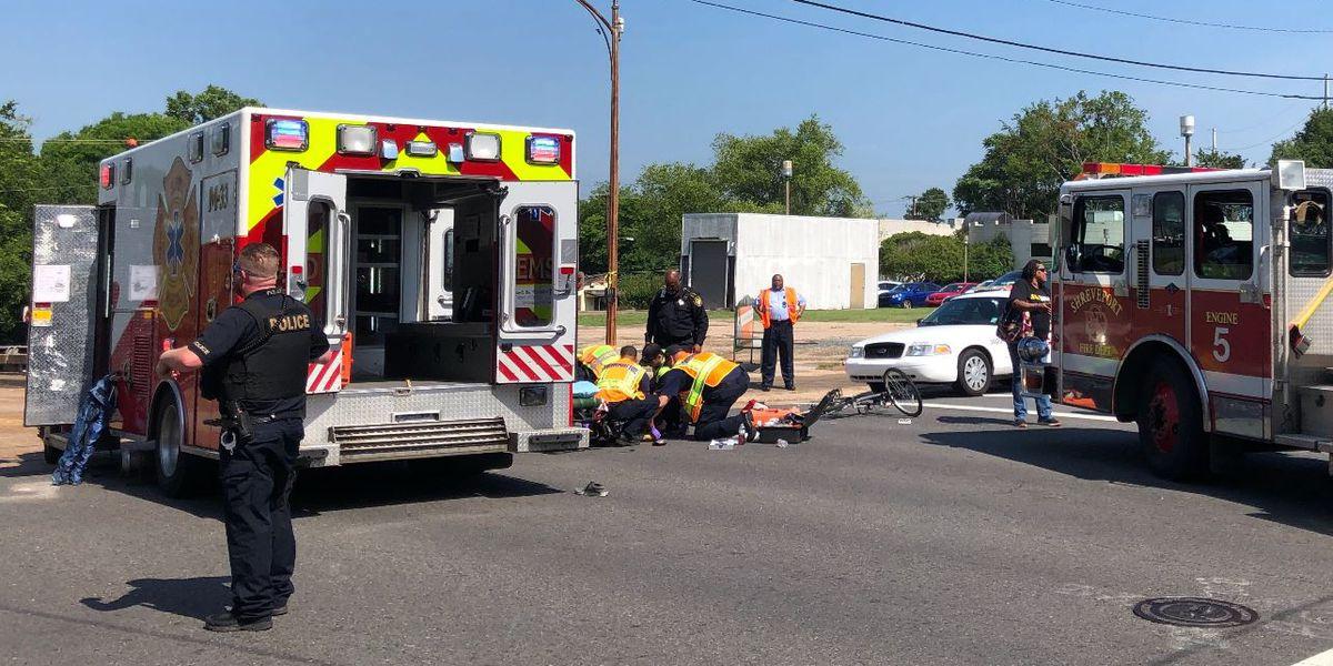 Crash sends bicyclist to hospital; police investigating