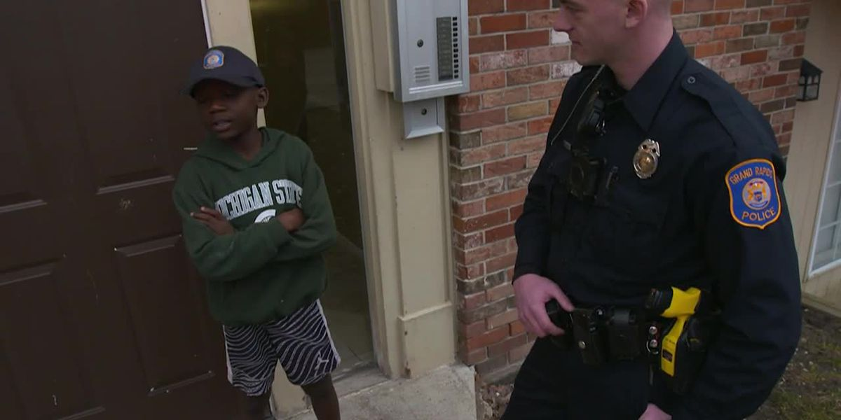 Michigan cop throws 9-year-old boy a birthday party after no classmates show