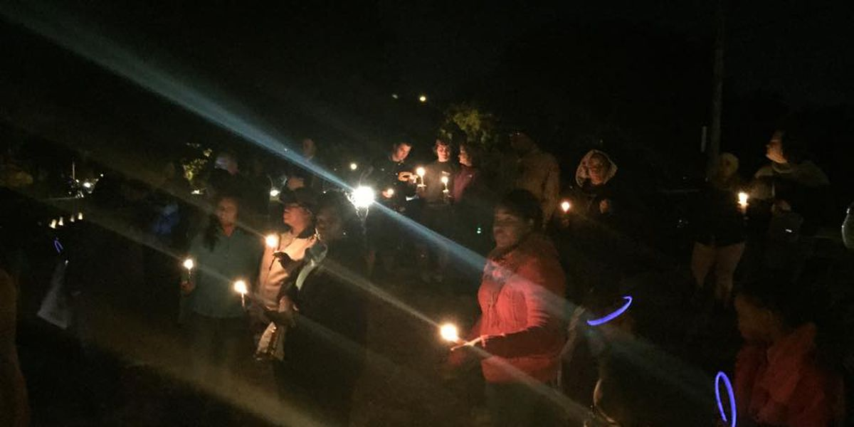 Vigil honoring Alicia West attracts large crowd