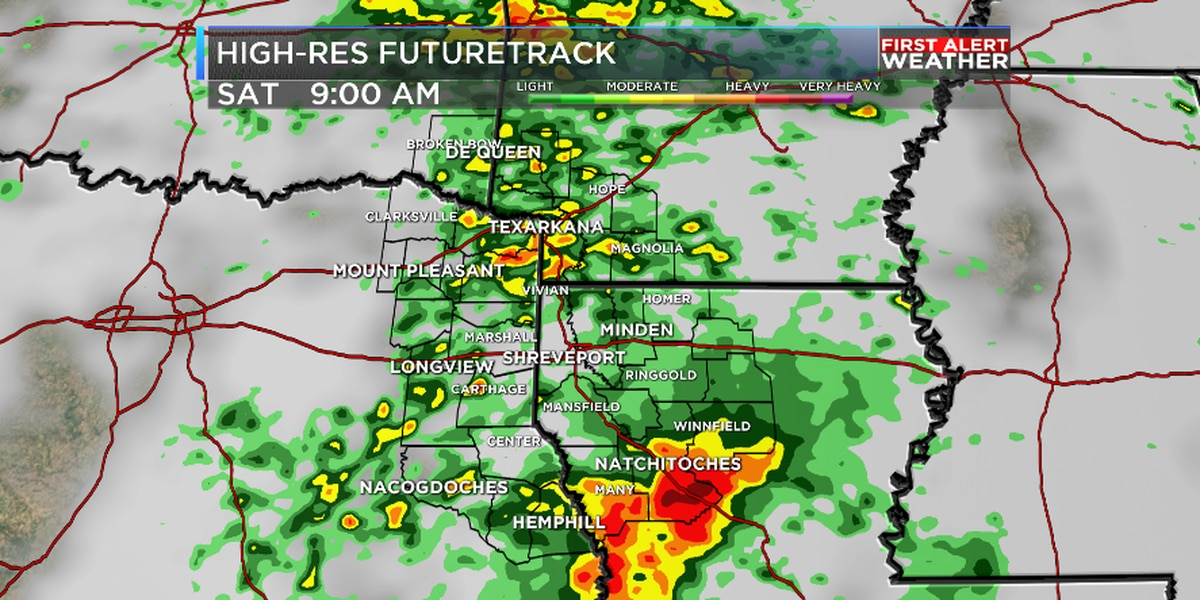 FIRST ALERT: Another round of heavy rain and storms possible Saturday