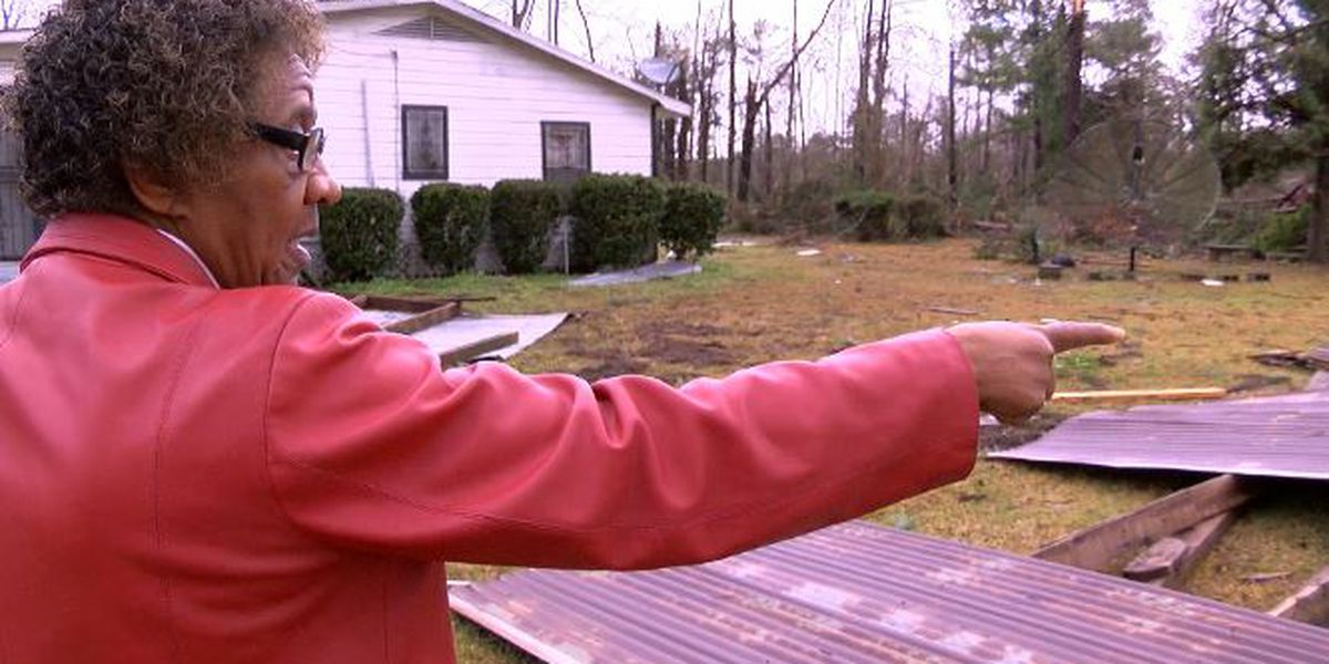 Haughton woman shares how heavy storms damaged her property