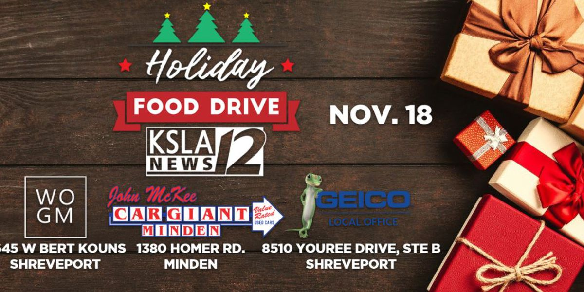 KSLA to hold Holiday Food Drive on Wednesday