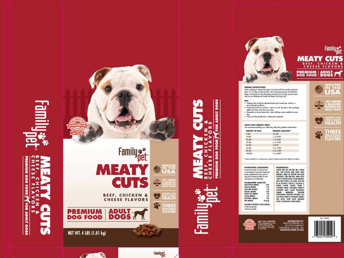 Dog food recall expanded due to high levels of fungal toxin
