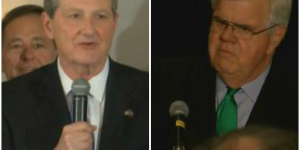 Campbell speaks about U.S. Senate runoff against Kennedy
