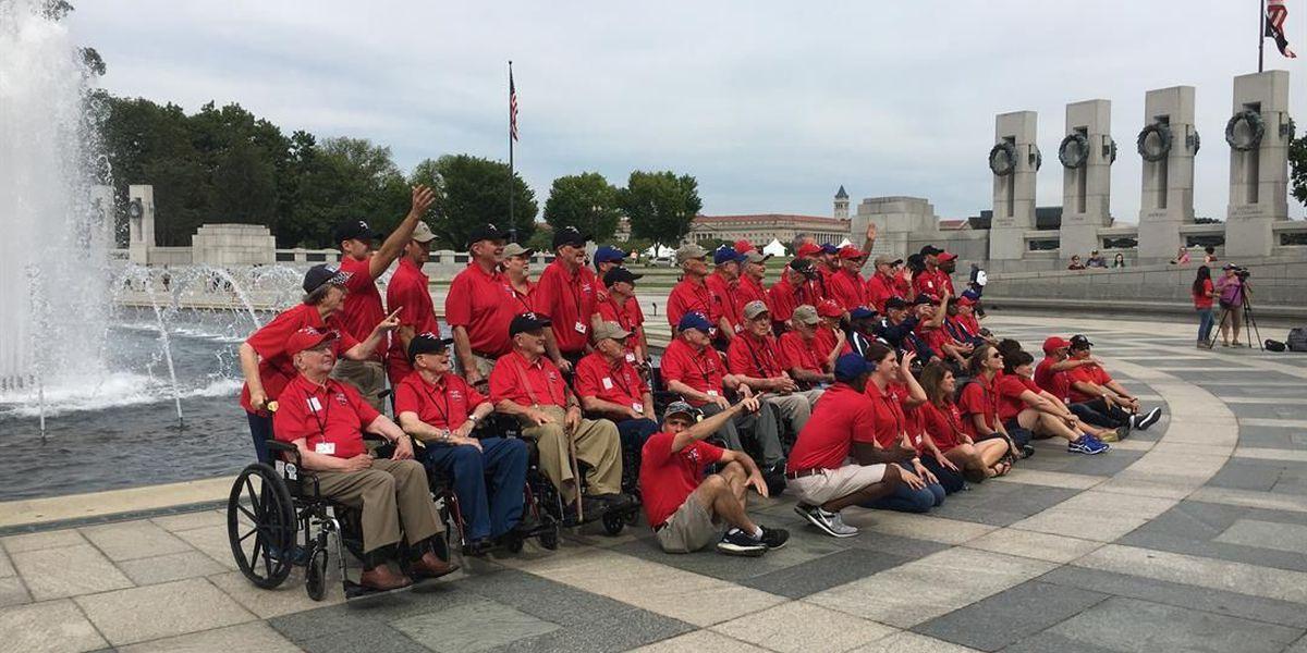 Veterans on Heroes Flight trip visit Arlington National Cemetery, WWII Memorial