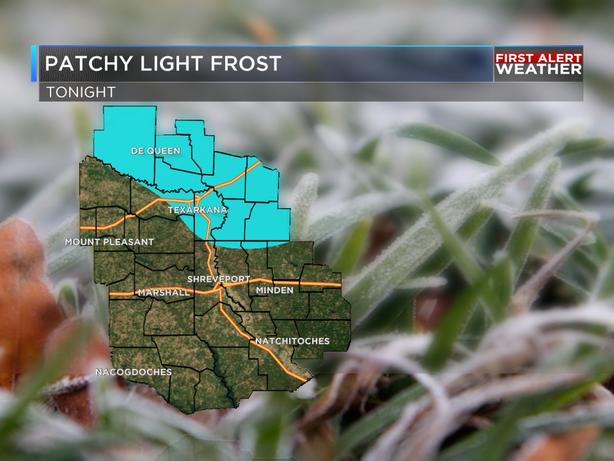 Light, patchy frost possible for some tonight