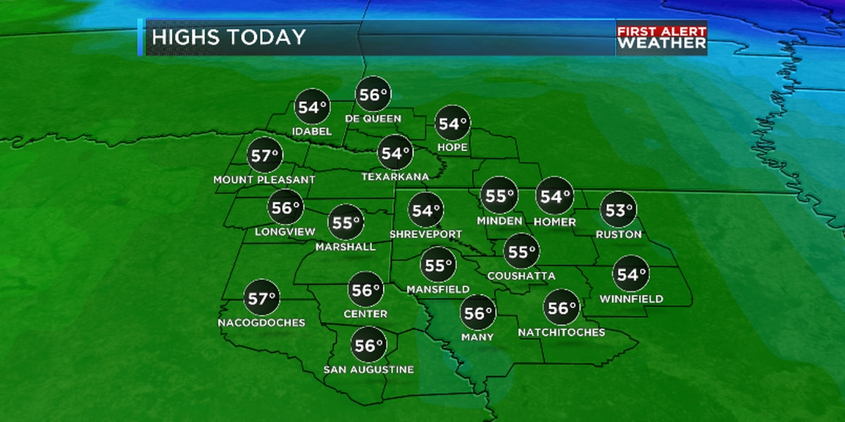 Freezing start, but afternoon temperatures rebound