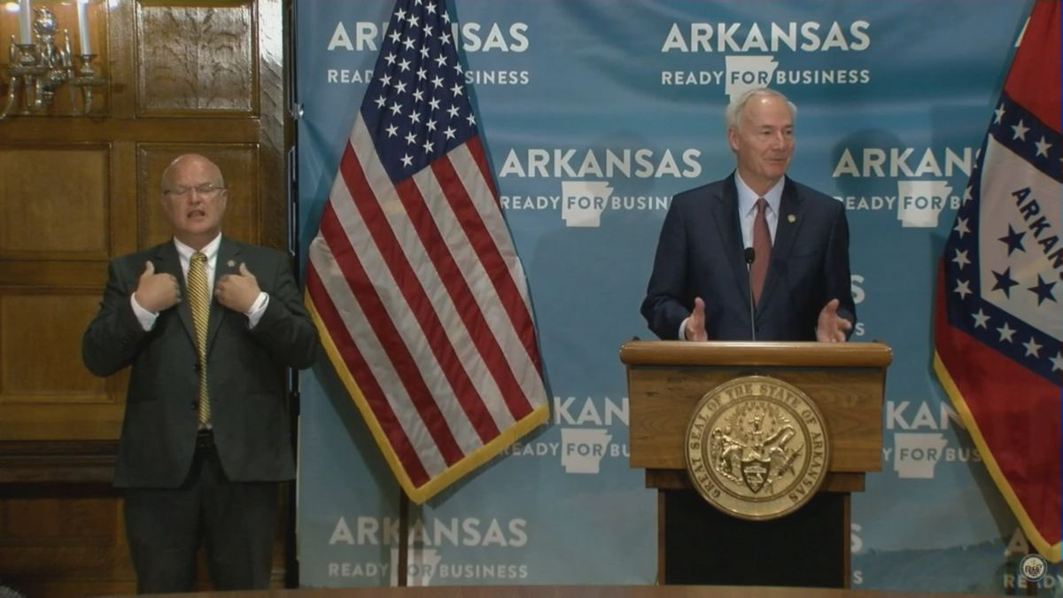 WATCH: Gov. Hutchinson's daily COVID-19 briefing