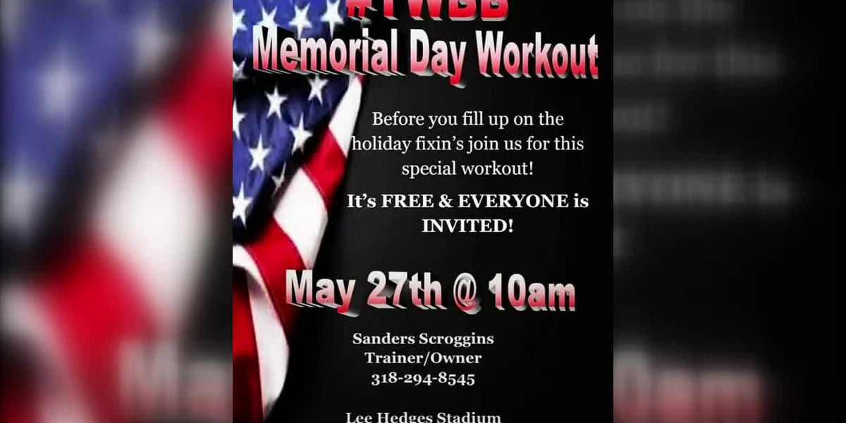 Get fit for free on Memorial Day