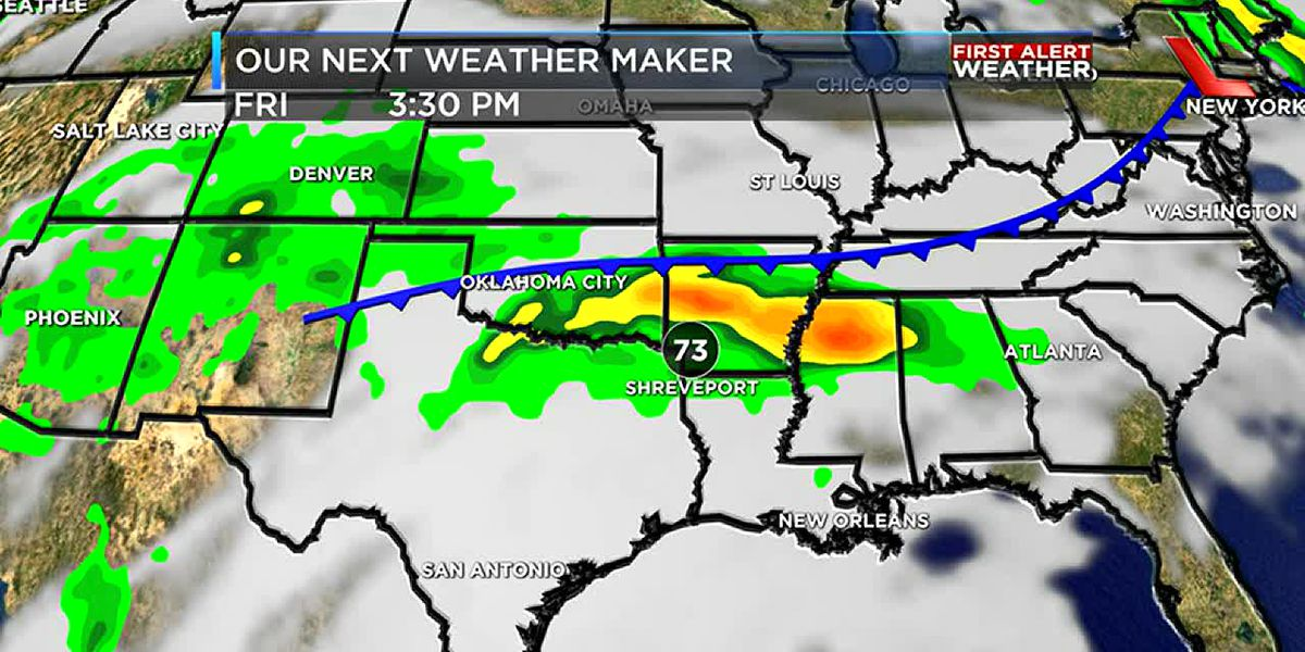 Rain chances on the increase later this week