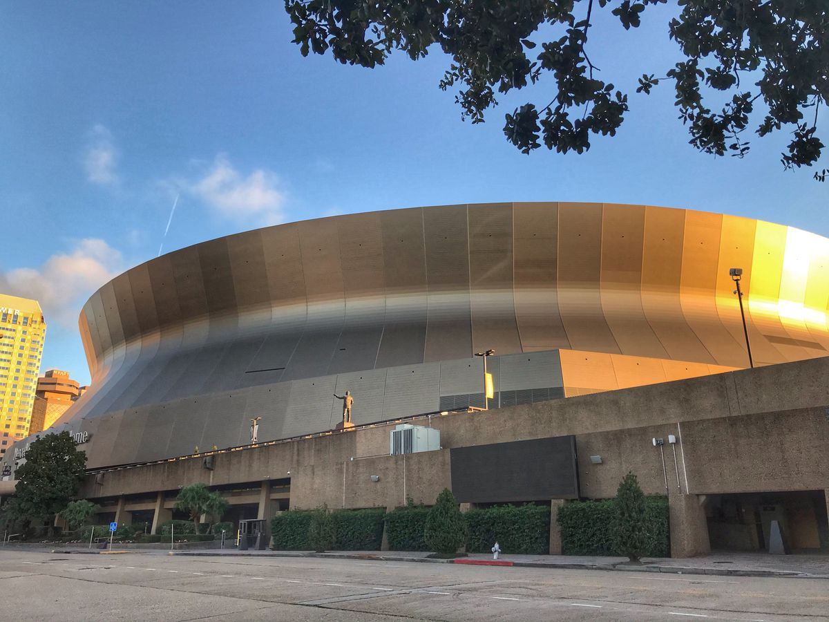 Saints fans celebrate a win inside the Superdome, around the city amid COVID-19 pandemic