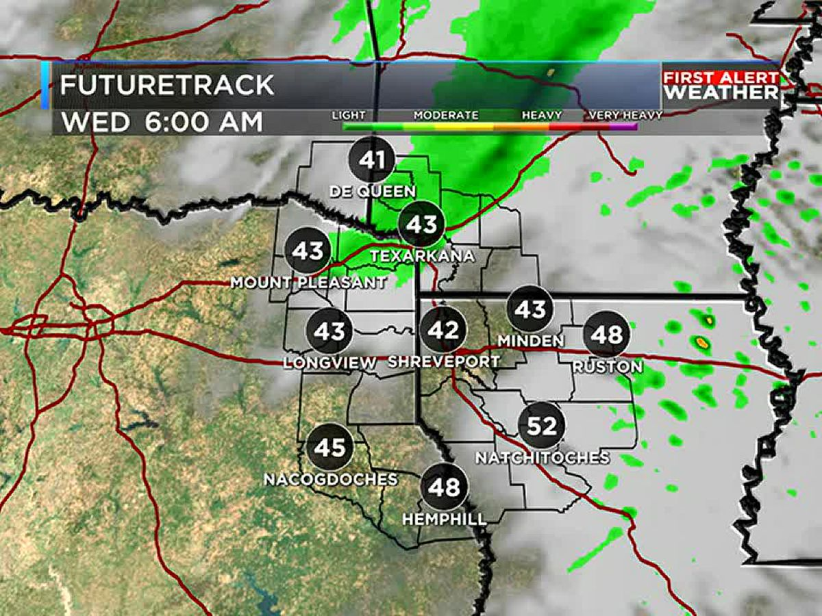 A little rain and cooler weather returns Wednesday