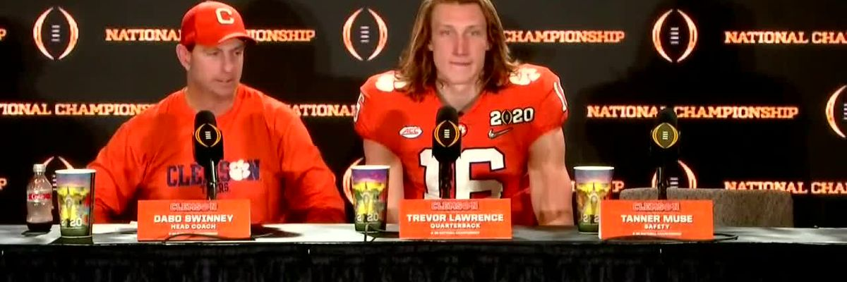 FULL POSTGAME VIDEO: Dabo Swinney and Trevor Lawrence talk No. 3 Clemson's loss to No. 1 LSU