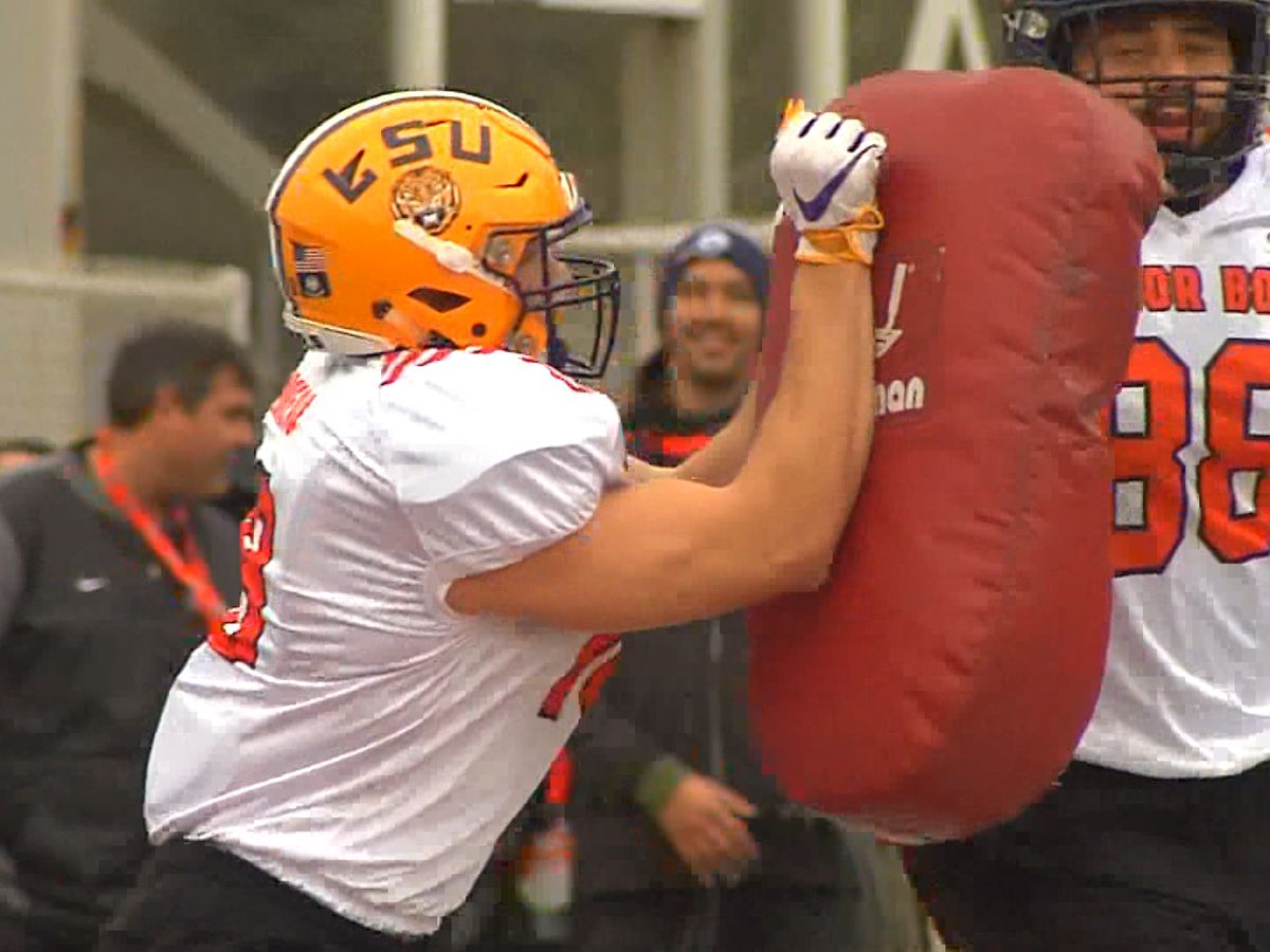 LSU TE Foster Moreau earns Senior Bowl practice honors
