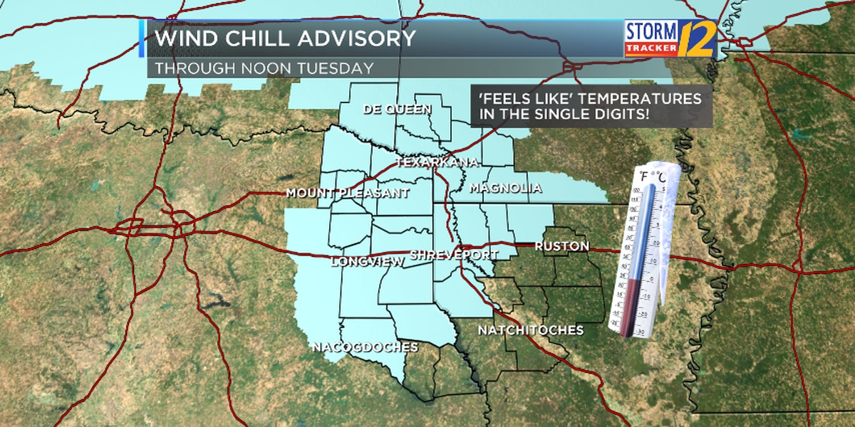 Wind Chill Advisory in effect until Noon Tuesday
