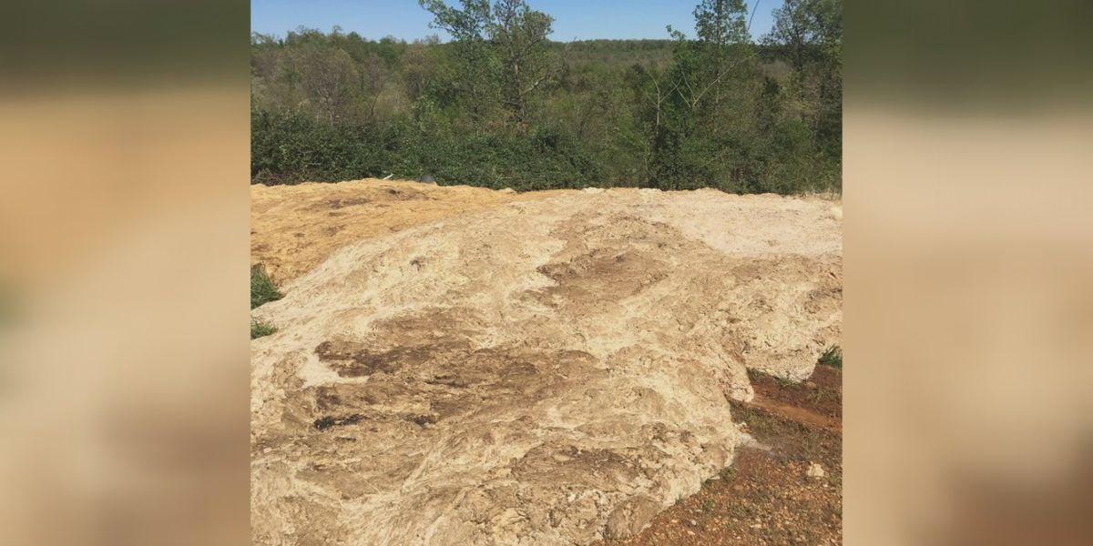 Arkansas woman finds truckloads of chicken waste dumped near her property