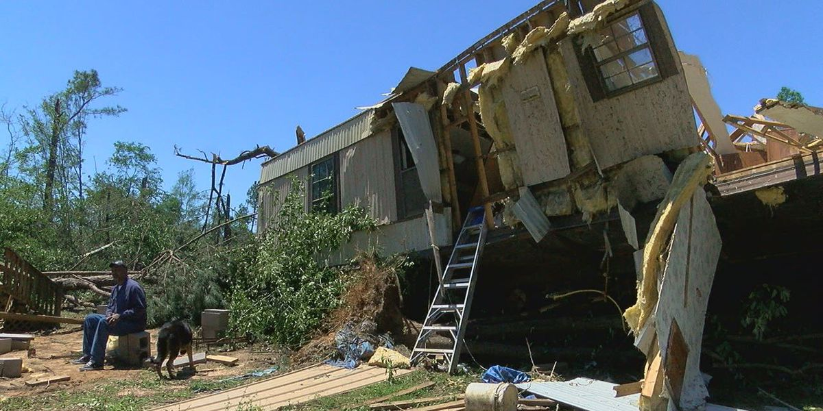 San Augustine couple survives while inside home when tossed in air by tornado