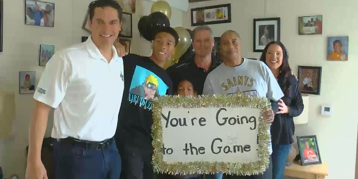 Viral fans given tickets to Saints-Colts game