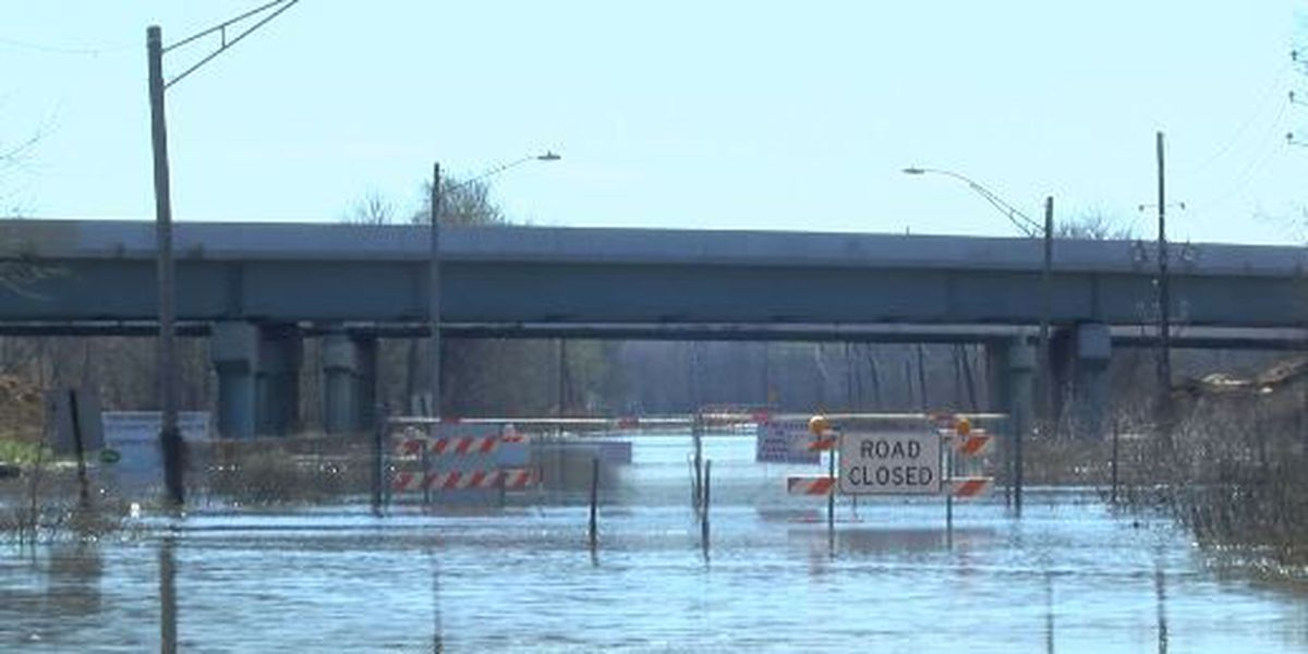 Record-breaking rainfall pushes back I-49 construction completion date