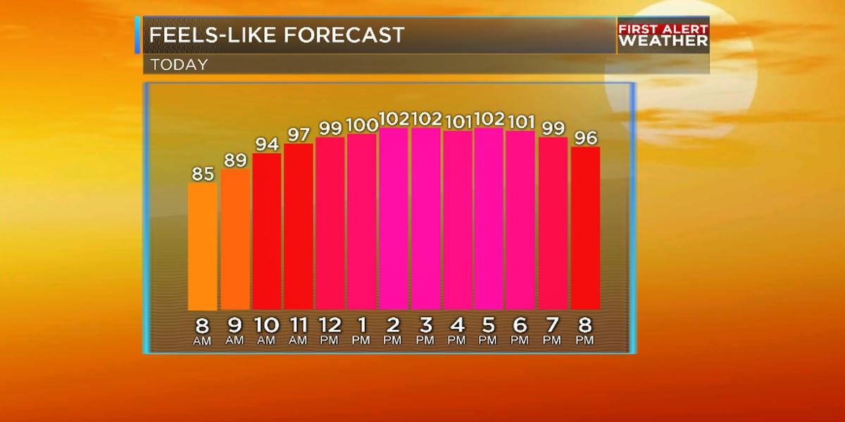 Slightly less humid Friday