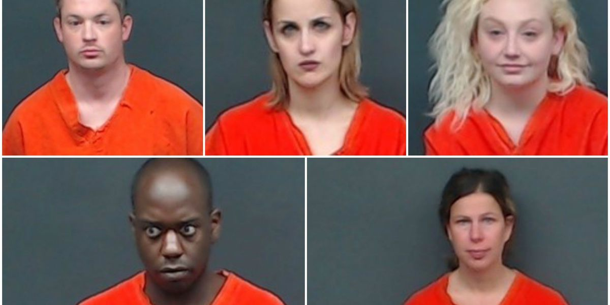 Tip leads to 5 arrested for drug charges