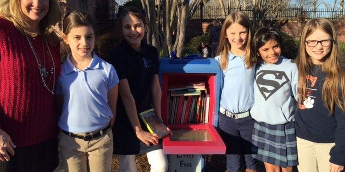 Bossier City students unveil Little Free Library