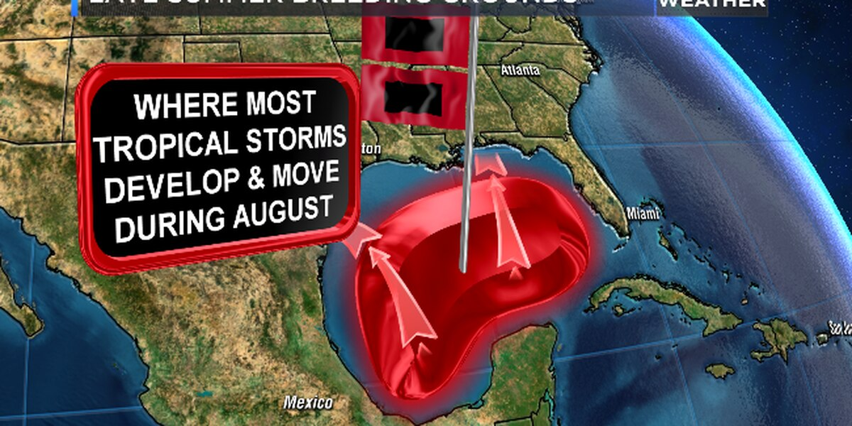 As hurricane season rolls on, what areas mostly generate tropical development?