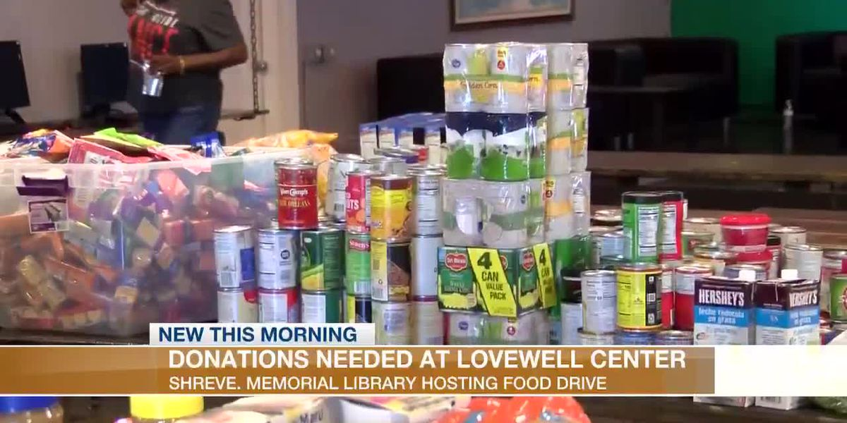 Shreve Memorial Library collecting food for Lovewell Center