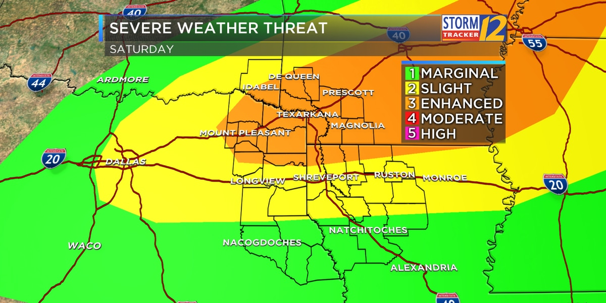 ALERT DAY: Saturday for a chance of severe weather