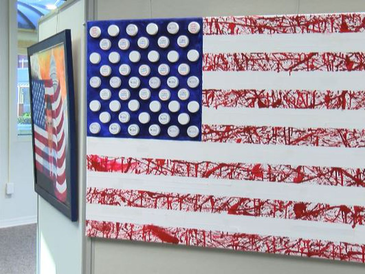 KSLA Salutes: BPCC unveils new military art exhibit