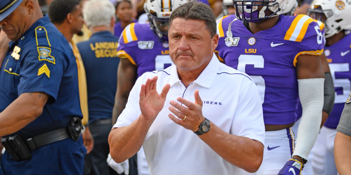 LSU's Ed Orgeron named AP Coach of the Year