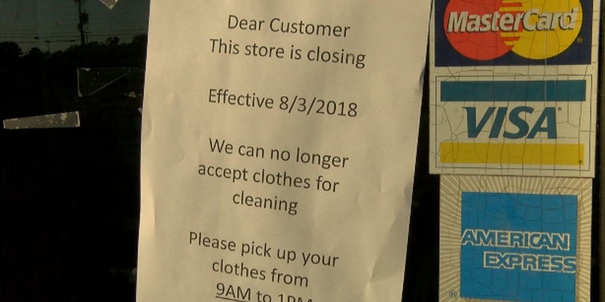 Shreveport dry cleaner closes; some people can't get clothes