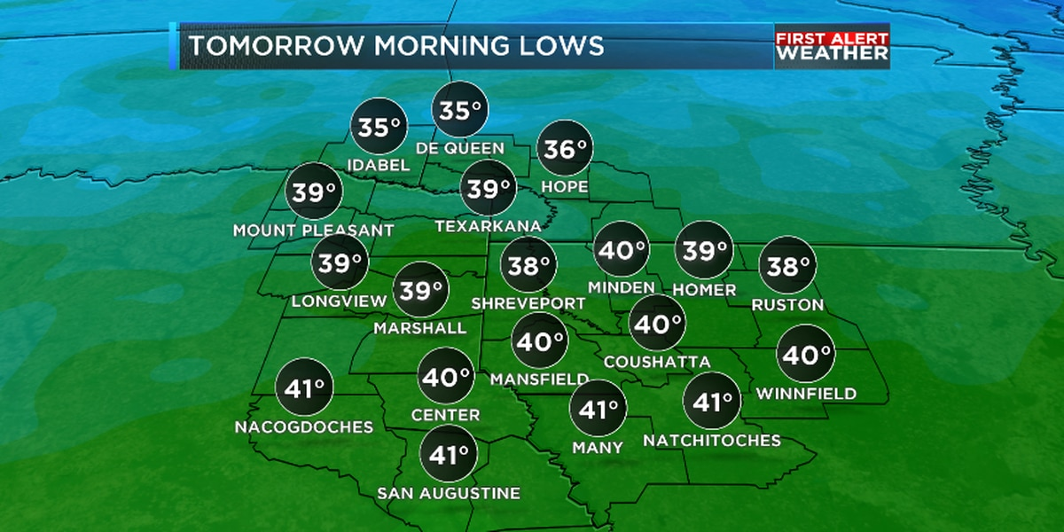 First Alert: Frost and freeze possible tonight